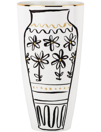 Daisy Place Vase 23cm 'Chinoiserie'