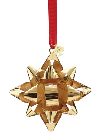 'Tinsel Topper' Gold Bow Ornament
