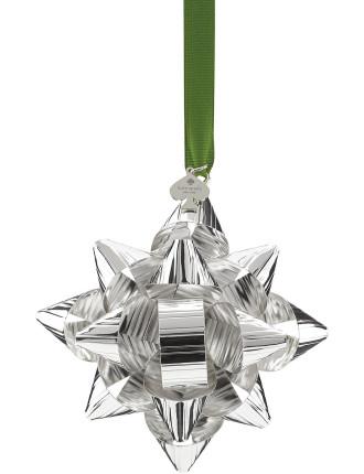 'Tinsel Topper' Silver Bow Ornament