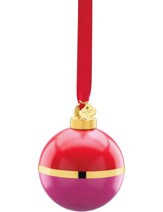 Be Merry, Be Bright' Pink & Orange Ornament