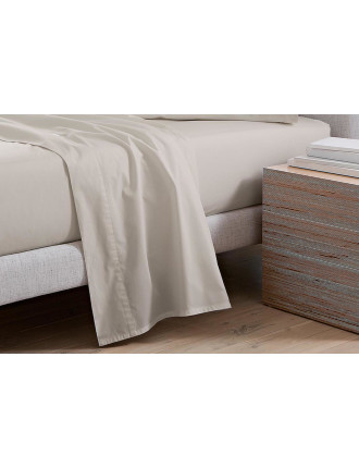 300tc Percale Queen Fitted Sheet