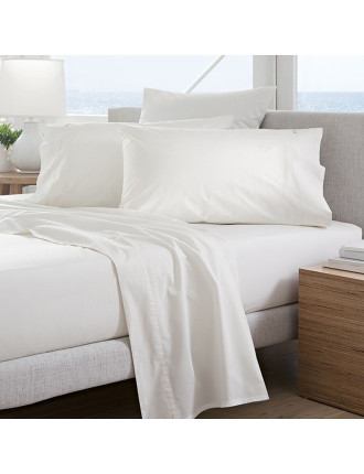 Classic Percale 300Tc King Fitted Sheet