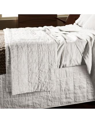 Abbotson Queen Quilted Bedskirt | David Jones : white quilted bed skirt - Adamdwight.com