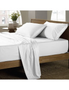 Soft Sateen 400tc Single Sheet Set $195.95