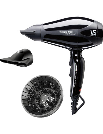 Venezia 2400 Ac Professional Dryer Black