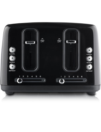 Simply Stylish 4 Toaster Slice Black