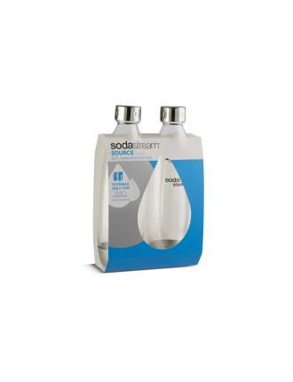 1L Twin Pack Metal Fuse Carbonating Bottles