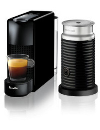 NESPRESSO BEC250BLK Essenza Mini Bundle Coffee Machine