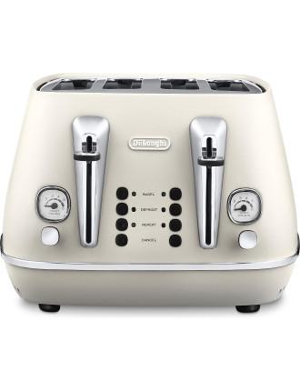 CTI4003W - Distinta 4-Slice Toaster in White