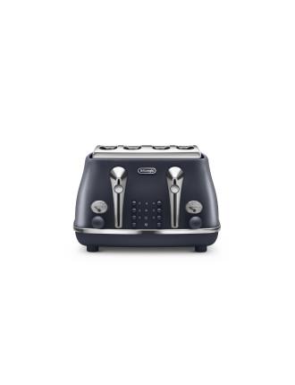 Icona Elements 4 Slice Toaster Black