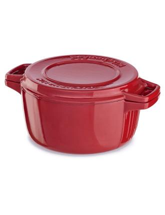 Cast Iron 3.8l Casserole - Empire Red *GWP*