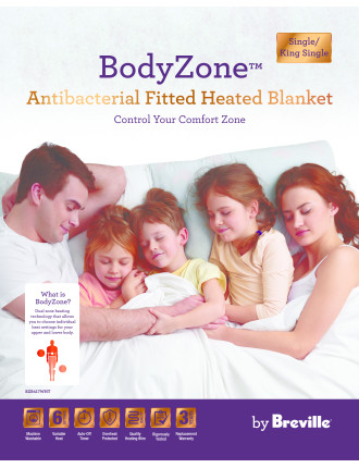 Antibacterial Fitted Electric Blanket - King Single