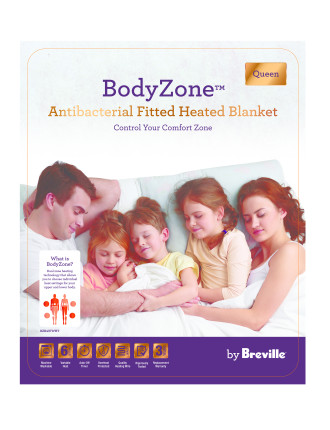 Antibacterial Fitted Heated Blanket - Queen