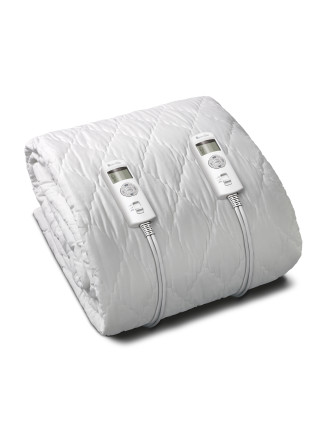 Quilted Fitted Heated Electric Blanket - Double