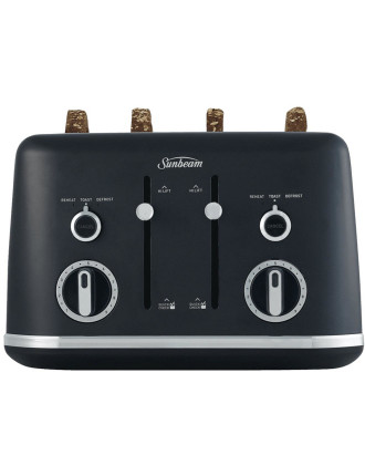 GALLERIE COLLECTION 4 SLICE TOASTER BLK
