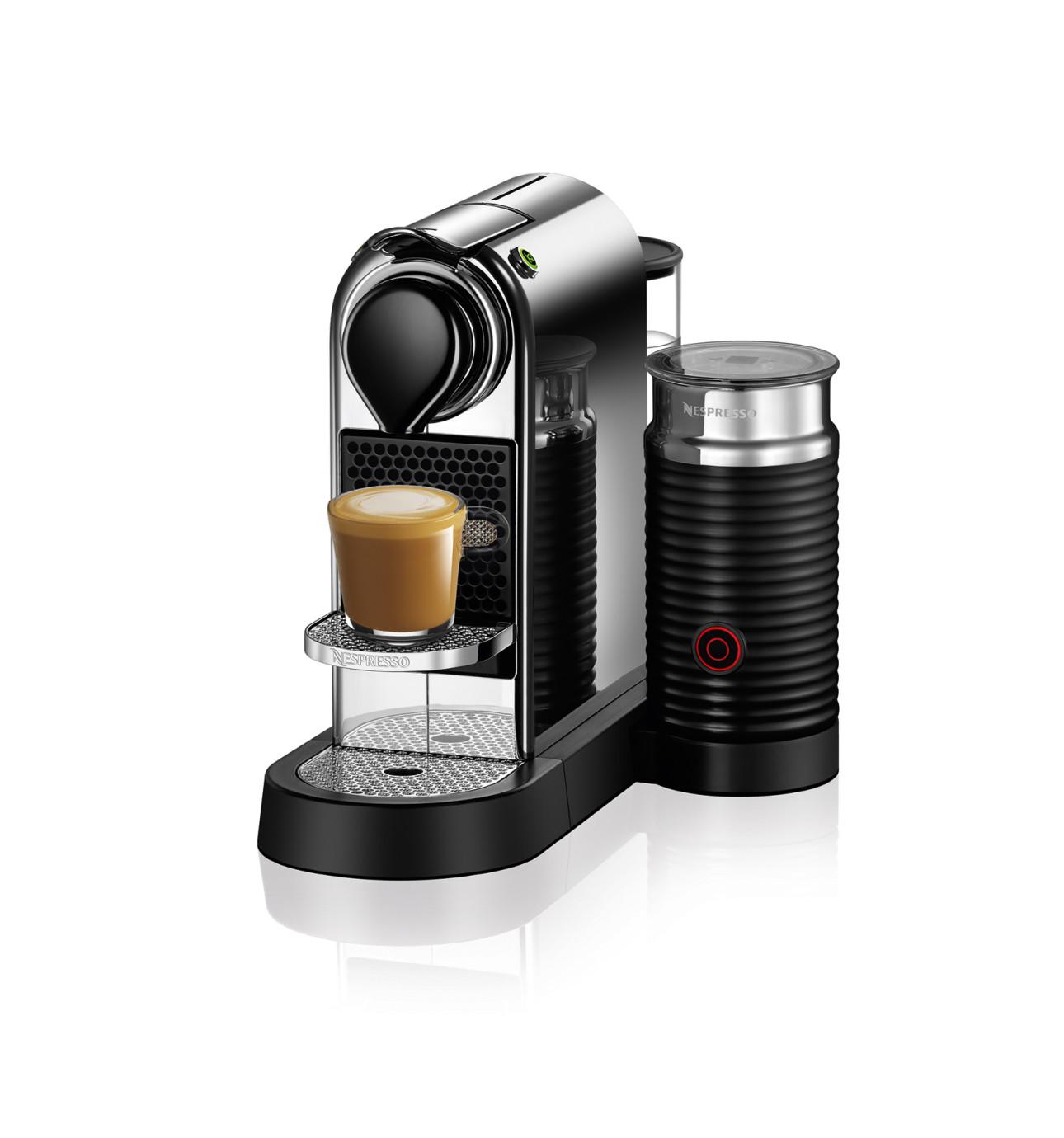Electronic David Jones Coffee Machines nespresso bec200xw inissia coffee machine bundle white david jones bec650mc citizmilk capsule chrome 399 00