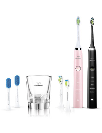 Philips Sonicare Diamondclean Black And Pink Bundle Pack