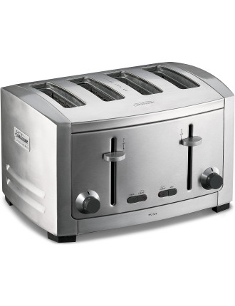 TA9400 Cafe Series 4-Slice Brushed Toaster