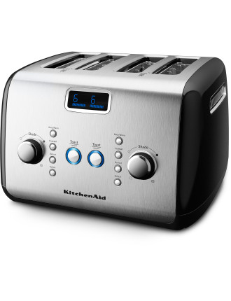 KMT423 4 Slice Black Toaster
