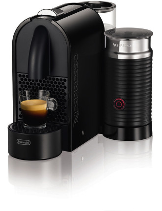 NESPRESSO EN210BAE U Milk Coffee Machine - Pure Black