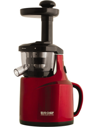 Ju-Bc-Au-Rd - Bio Chef Silent Cold Press Juicer - Cherry Red