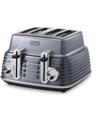 CTZ4003GY Scultura 4 Slice Toaster Steel Grey