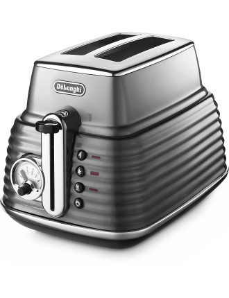 CTZ2003GY Scultura 2 Slice Toaster Steel Grey