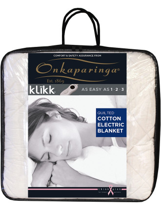 Quilted Cotton King Bed Electric Blanket