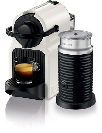 Nespresso BEC200XW Inissia Coffee Machine Bundle White