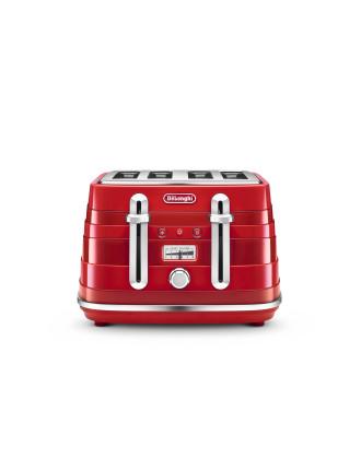 CTA4003R Avvolta 4 Slice Toaster Red