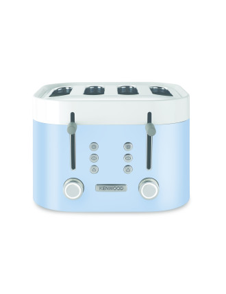 TFM400BL Ksense 4 Slice Toaster - Unique White & Blue Finish
