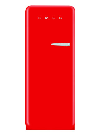 FAB28LR1 256L Fridge, Red - LH Door