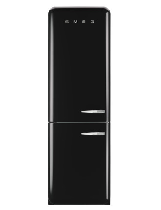 FAB32LBLNA1 326L Fridge Freezer, Black - LH Door