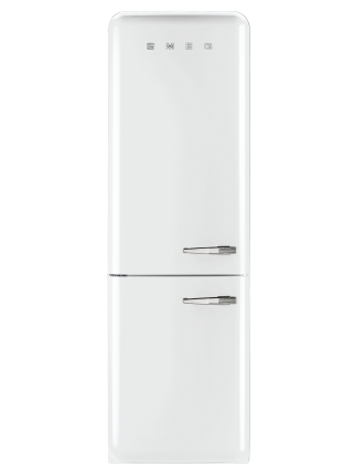 FAB32LWHNA1 326L Fridge Freezer, White - LH Door