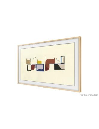 Bezel for 65' Frame TV, Beige Wood