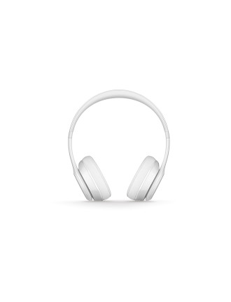 BEATS SOLO3 WIRELESS ON-EAR HEADPHONES - GLOSS WHITE