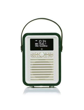 VQ Retro Mini DAB+ Digital Radio Emerald Green