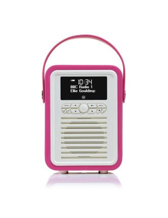 VQ Retro Mini DAB+ Digital Radio Pink