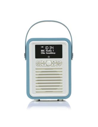 VQ Retro Mini DAB+ Digital Radio Blue