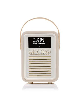 VQ Retro Mini DAB+ Digital Radio Cream