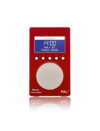 PAL + BLUETOOTH PORTABLE FM/DAB+ RADIO RED