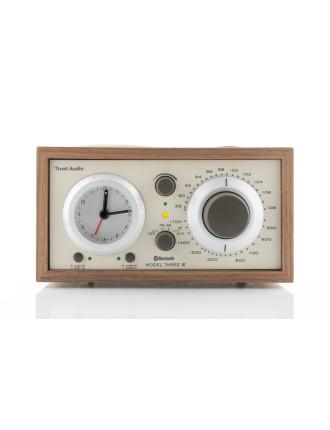 MODEL THREE AM/FM BLUETOOTH CLOCK RADIO WALNUT