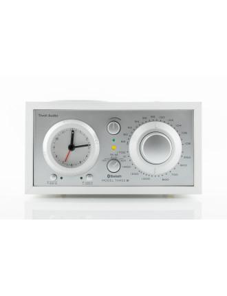MODEL THREE AM/FM BLUETOOTH CLOCK RADIO WHITE