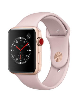 WATCH SERIES 3 GOLD ALUMINIUM CASE WITH PINK SAND SPORT BAND