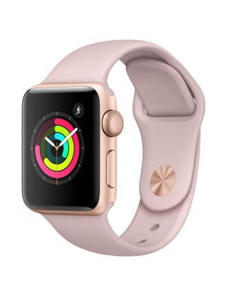 WATCH SERIES 3 GOLD AL CASE PINK SAND SPORT BAND