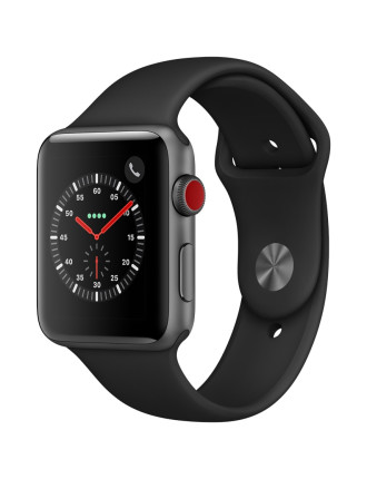 WATCH SERIES 3 42MM SPACE GREY AL CASE BLACK SPORT BAND