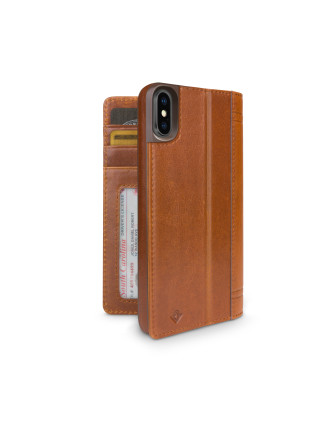 Twelve South Journal for iPhone X - Cognac