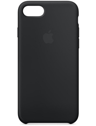 IPHONE 8 / 7 SILICONE CASE - BLACK