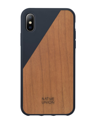 CLIC WOODEN SLIM CASE FOR IPHONE X MARINE