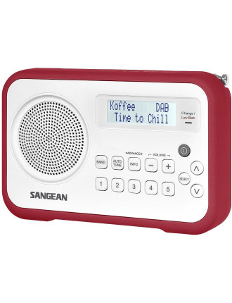Sangean Dab+/Fm Comp Radio Red